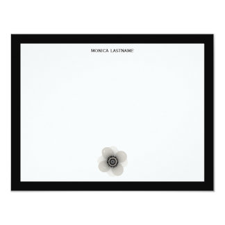 French Anemone Flat Notecards
