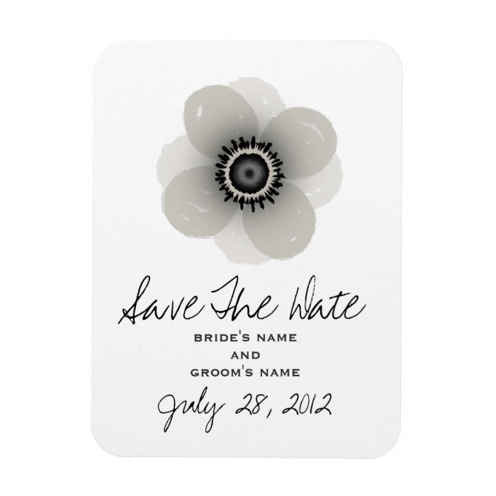 French Anemone Wedding Save The Date Magnet