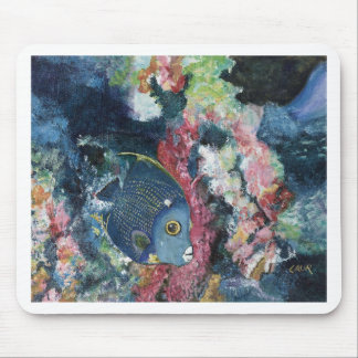 French Angelfish Mouse Pads