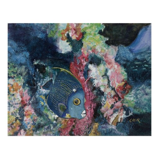 French Angelfish Poster