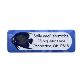 French Angelfish Return Address Label