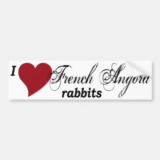 French Angora rabbits bumper sticker Car Bumper Sticker