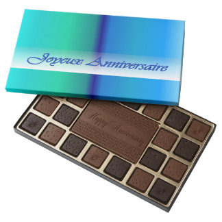French Anniversary Green and Blue Chocolate Box