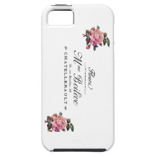 French Antique Flower Invoice with pink roses iPhone SE/5/5s Case