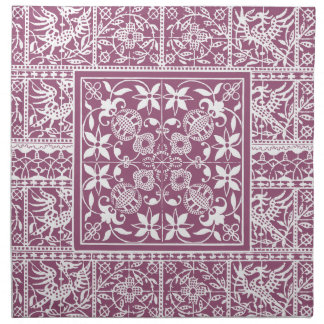 French Antique Lace Vintage Dusty Rose Napkin