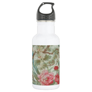 French Antique Toile Bird and Flowers 18oz Water Bottle