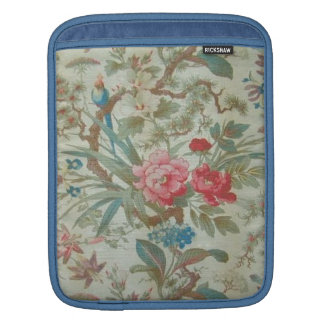 French Antique Toile Bird and Flowers Sleeve For iPads