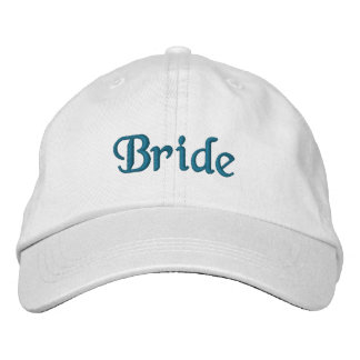 French Aqua Bride Embroidered Hat