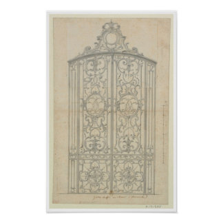 French Architectural Drawing Posters