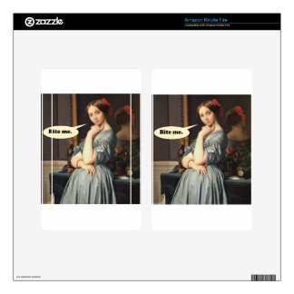 French Aristocrat Says: Bite Me Decal For Kindle Fire