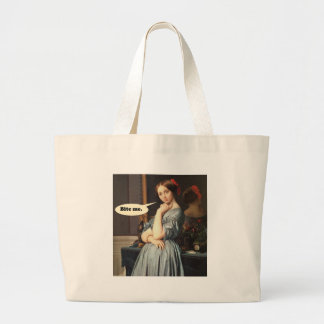 French Aristocrat Says: Bite Me Large Tote Bag