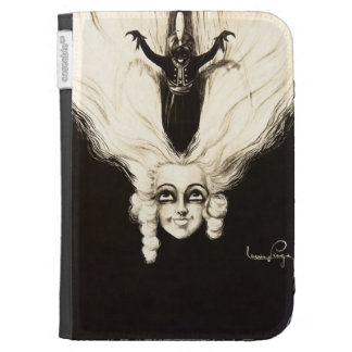 French Aristocrat Wig Hair Vintage Marionette Kindle 3G Cases