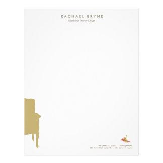 French Armchair Interior Designer Hummingbird Letterhead