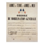 French Army and Navy.  General Mobilisation Order. Posters