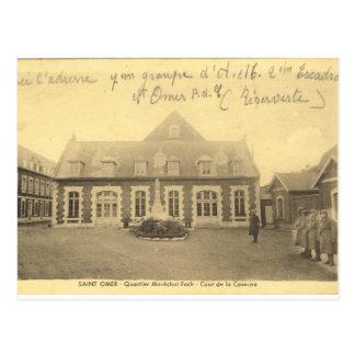 French army, St Omer barracks, FIrst World War Postcard