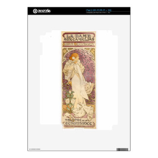 French Art Nouveau Camellias - Alphonse Mucha Decals For iPad 2