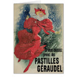 French Art Nouveau Christmas Card