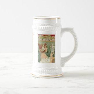 "French Art Nouveau ""Laurier Objets d'Art"" 18 Oz Beer Stein"