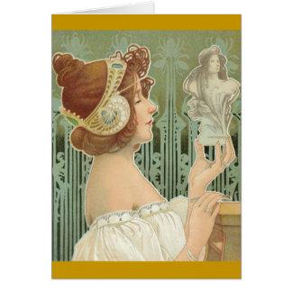 """French Art Nouveau """"Laurier Objets d'Art"""" Card"""