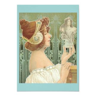 """French Art Nouveau  """"Laurier Objets d'Art"""" Personalized Invites"""