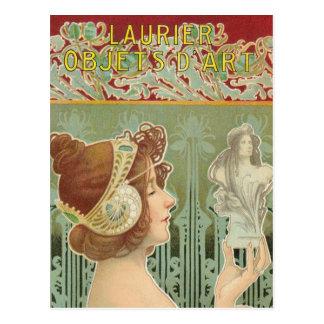 """French Art Nouveau """"Laurier Objets d'Art"""" Post Card"""