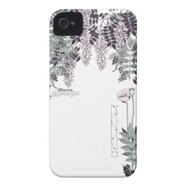 French Art Nouveau Poppy Wisteria Flowers Case-Mate iPhone 4 Case
