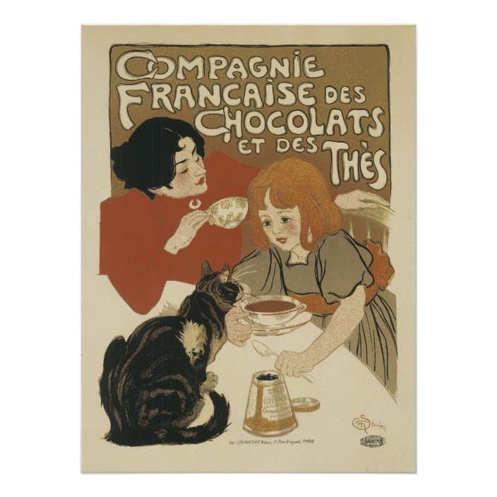 French Art Nouveau Posters Chocolate