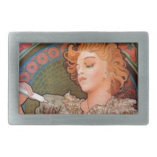 French Art Nouveau Publicity Poster Belt Buckle
