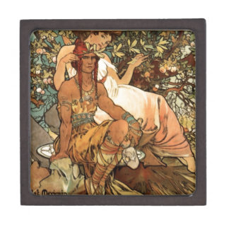 French Art Nouveau Publicity Poster Gift Box