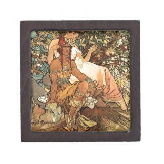French Art Nouveau Publicity Poster Keepsake Box