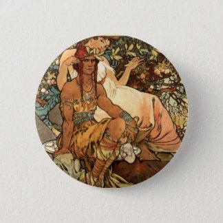 French Art Nouveau Publicity Poster Pinback Button