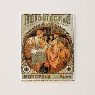 French Art Nouveau Publicity Poster Puzzle