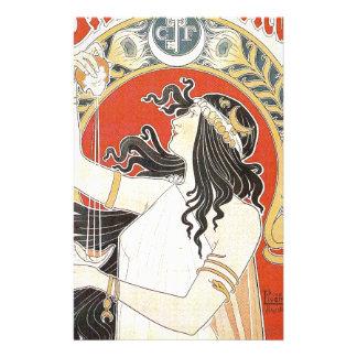 French Art Nouveau Publicity Poster Stationery