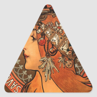 French Art Nouveau Publicity Poster Triangle Sticker
