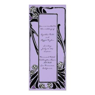 French Art Nouveau Stylized Flower Frame Card