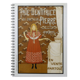 French Art Nouveau Toothpaste Ad Notebook