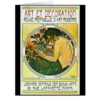 French Art Show Promo 1901 Large Greeting Card