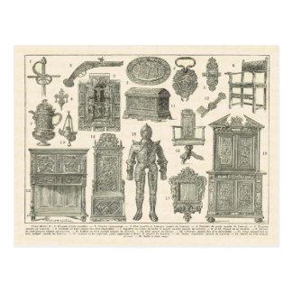 French artefacts, Henri II period Postcard