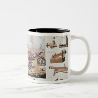 French artillery from the 14th and 15th centuries Two-Tone coffee mug