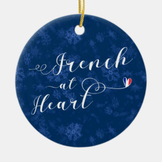 French At Heart, Christmas Tree Ornament, France Ceramic Ornament