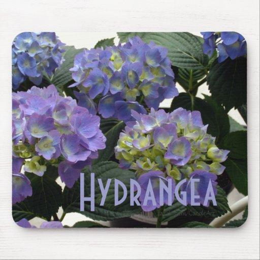 French Baby Blue Hydrangeas Mousepad