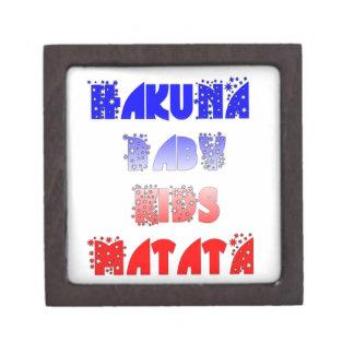 French Baby Kids Hakuna Matata.png Keepsake Box