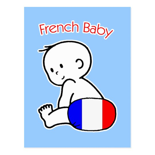 French Baby Postcard