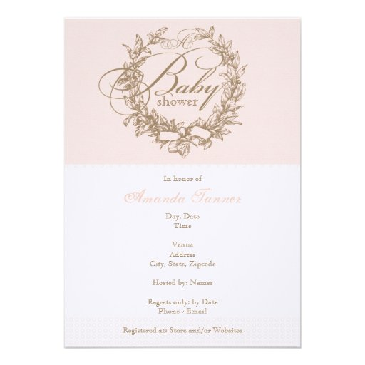 French Baby Shower Invitation - Pink