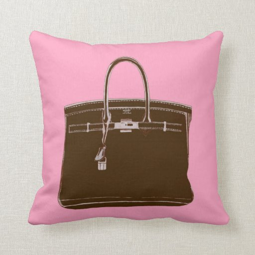 FRENCH BAG ON PINK PILLOW