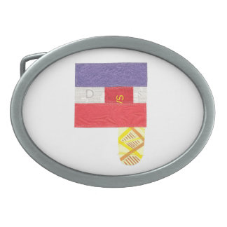 French Baguette Buckle Oval Belt Buckle
