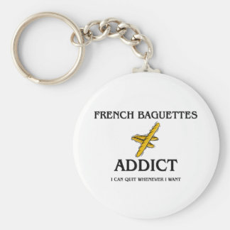 French Baguettes Addict Key Chains