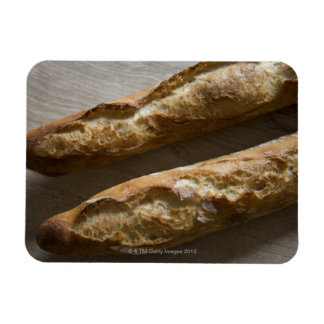 French baguettes, French bread, close up Rectangular Photo Magnet