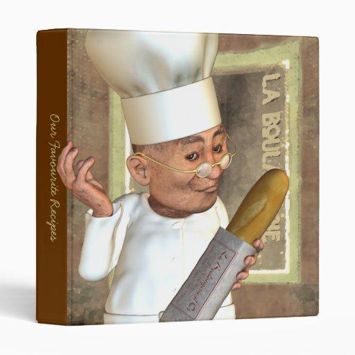 """French Bakery 1"""" Custom Vinyl Binder"""