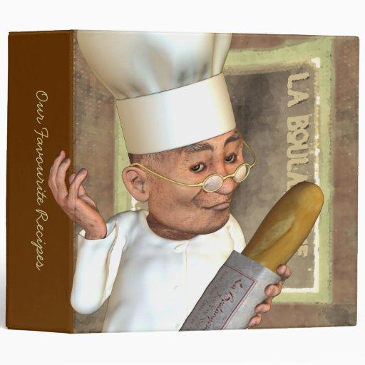 """French Bakery 2"""" Custom Vinyl Binder"""